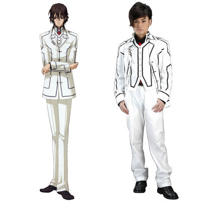 Déguisement Costume Carnaval Cosplay Vampire Knight Night Class Blanc Male Uniforme scolaire