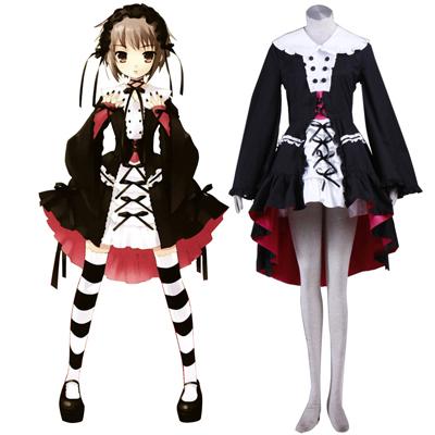 Haruhi Suzumiya Nagato Yuki 2 Lolita Cosplay Kostym