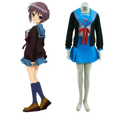 Haruhi Suzumiya Nagato Yuki 1 Cosplay Kostymer