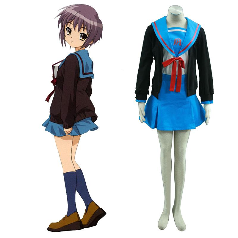 Haruhi Suzumiya Nagato Yuki 1 Cosplay Kostýmy