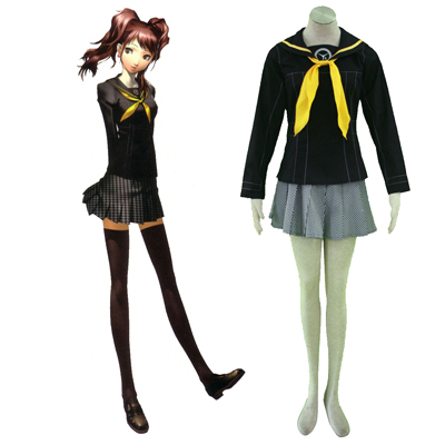 Shin Megami Tensei: Persona 4 Winter Female School Uniform Cosplay Costumes Deluxe Edition