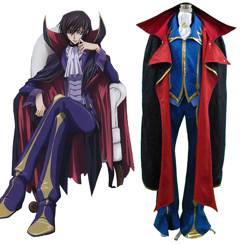 Code Geass Lelouch Lamperouge ZERO 2 Cosplay Kostýmy