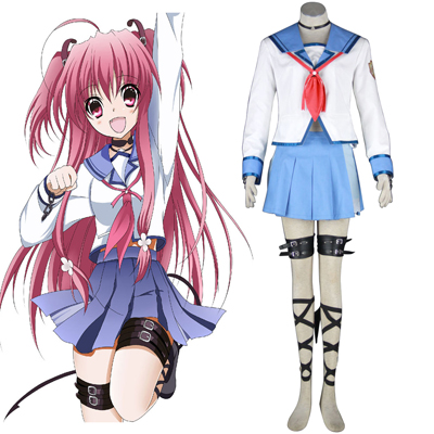 Angel Beats! Yui 1 Cosplay Kostymer