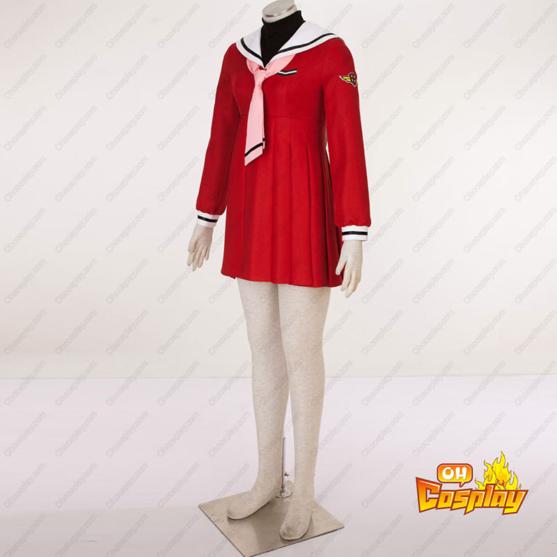 סאקורה לוכדת הקלפים Kinomoto Sakura 4 אָדוֹם Sailor תחפושות קוספליי