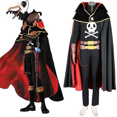 Galaxy Express 999 Captain Harlock Cosplay Costumes