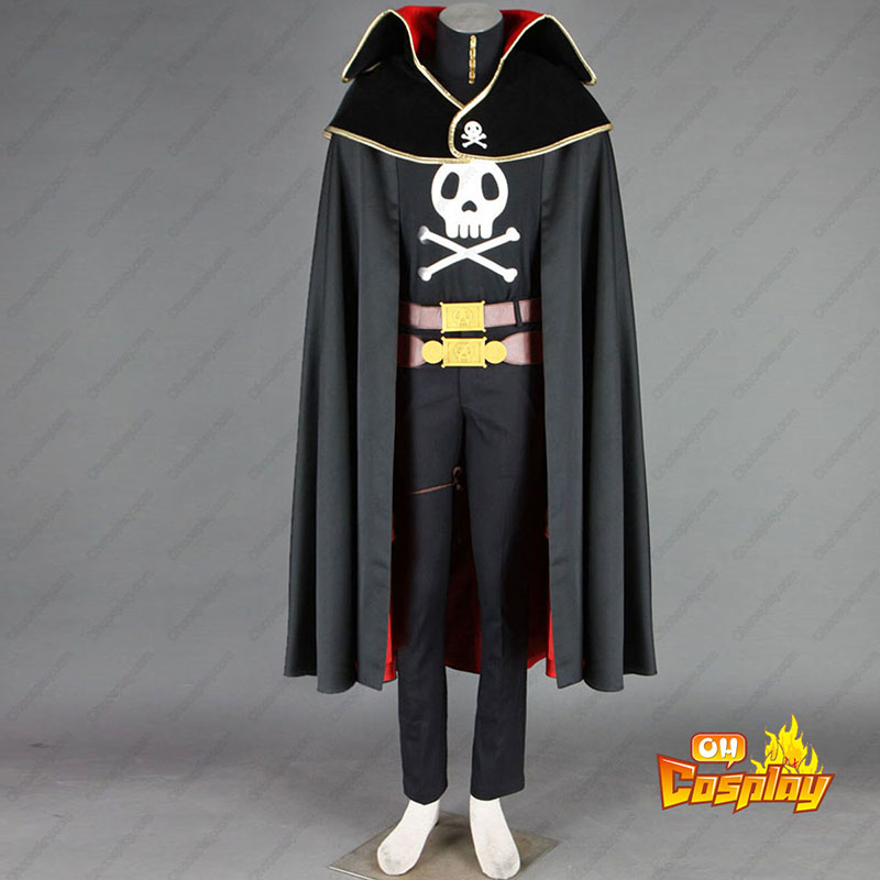 Galaxy Express 999 Captain Harlock Cosplay Kostymer