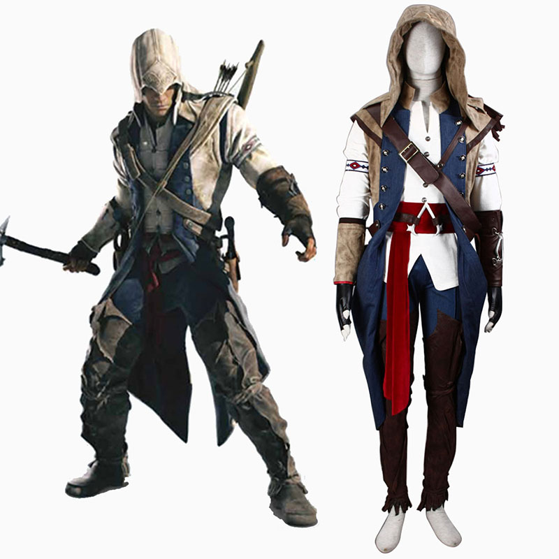 Assassin\'s Creed III Assassin 7 Traje Cosplay