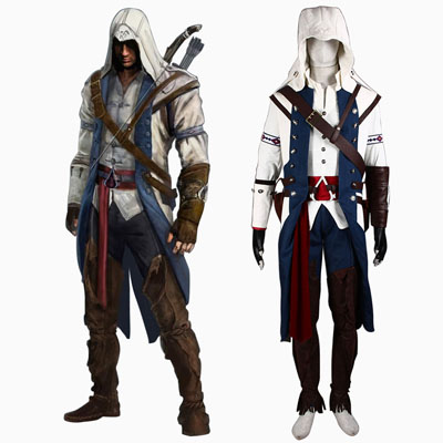 Assassin's Creed III Kenway Assassin 8TH Connor Cosplay White Costumes