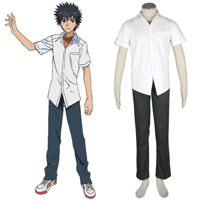 A Certain Magical Index Kamijou Touma 1 Cosplay Kostym