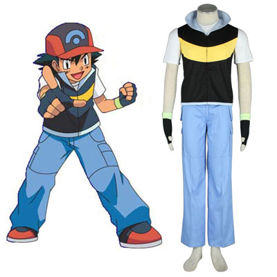 Pokémon Ash Ketchum 1 Cosplay Costumes UK