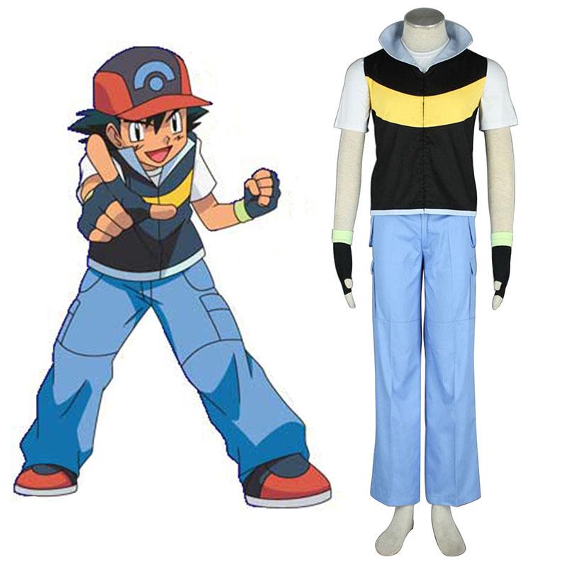 Pokémon Ash Ketchum 1 Cosplay Kostýmy