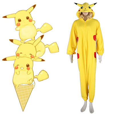 Pokémon Pikachu Pajamas 1 Cosplay Costumes UK