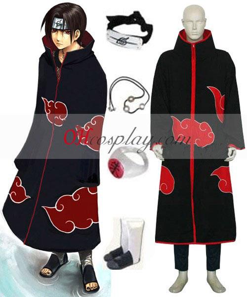 Costume Carnaval Cosplay costume de Naruto Akatsuki Itachi Uchiha de luxe pour hommes