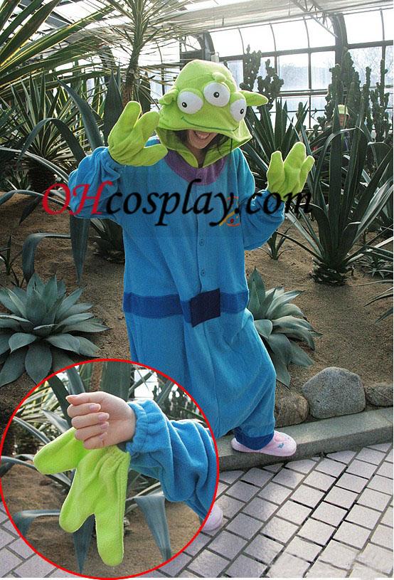 Tre Eyes Monster Kigurumi kostume Pyjamas