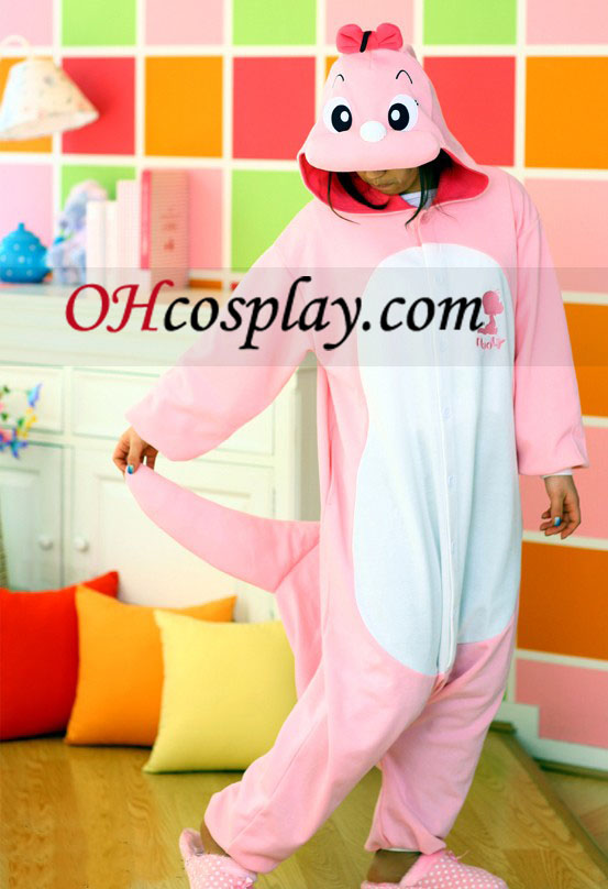 Pink Dinosaur Dolly Kigurumi Costume Pajamas