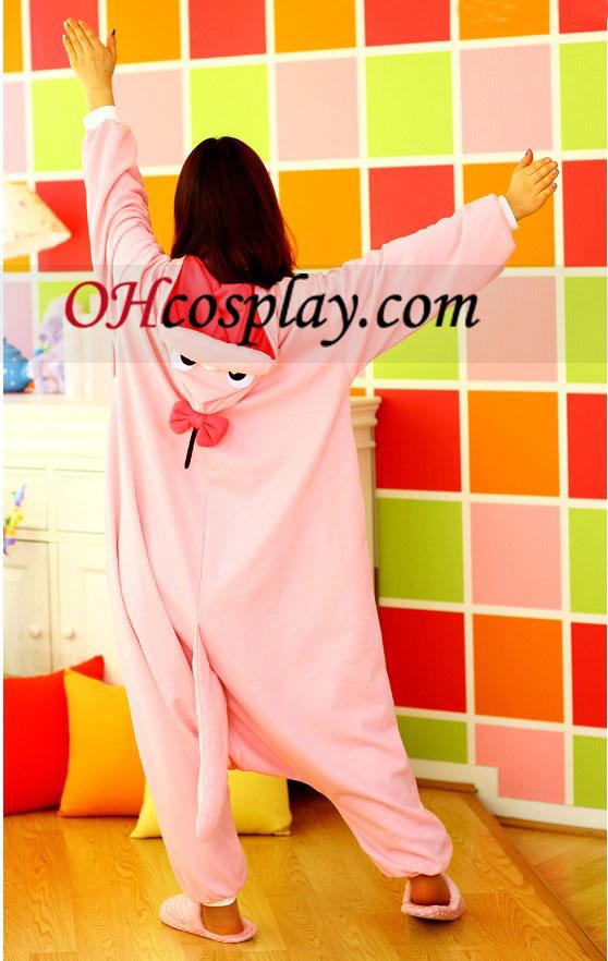 Dolly Pink Dinosaur Kigurumi Kostume Pyjamas