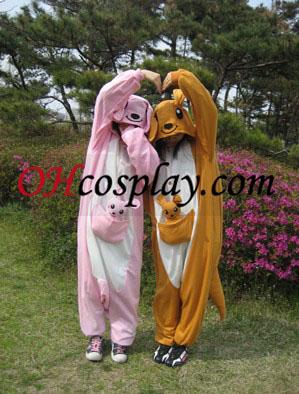 Kangaroo Kigurumi Kostume Pyjamas