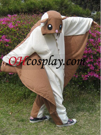 Flying Squirrel Kigurumi kostume Pyjamas