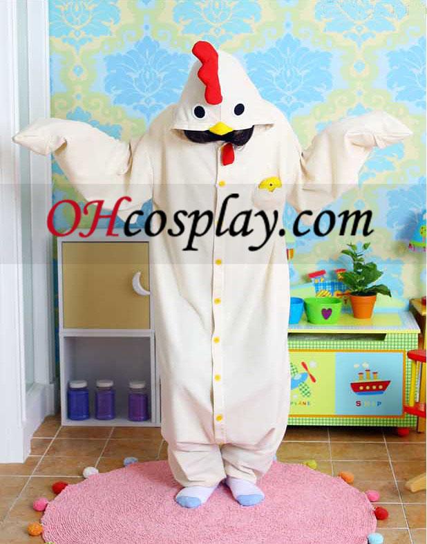 Engraçado Galinha Kigurumi Traje Pijamas