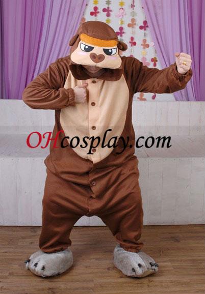 Gorilla Kigurumi Kostume Pyjamas