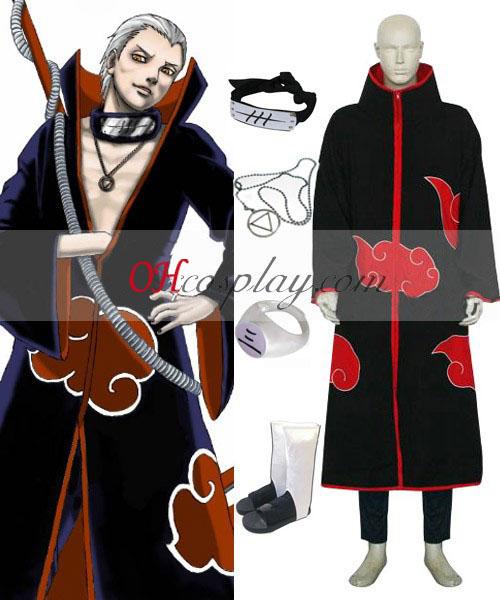 Naruto Akatsuki Hidan Deluxe Cosplay Kostym Set