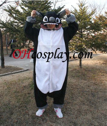 Sort Stitch Kigurumi Kostume Pyjamas