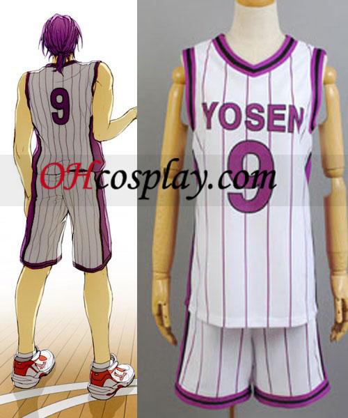 A cosplay Kuroko Jersey kosárlabda öltözék Yosen