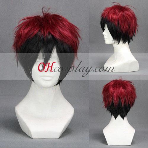 Kuroko Basketball Kagami Taiga Black & Red udklædning Paryk
