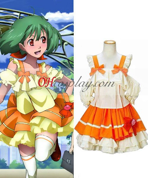 Macross Frontier Ranka Lee vestido Cosplay fantasia