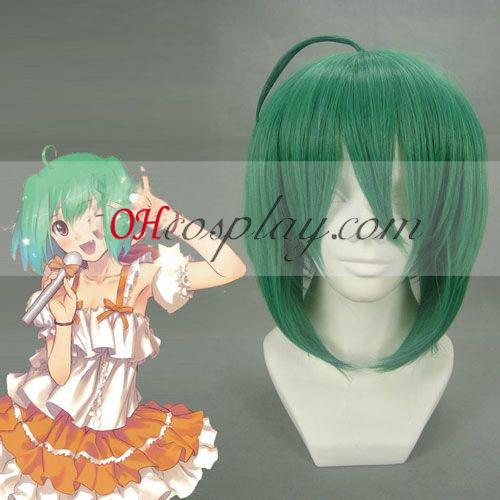 Macross Frontier Ranka Lee Cosplay peruca Verde