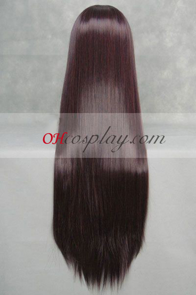 Neon Genesis Evangelion Makinami Mari hæderkronede Wine Red udklædning Paryk