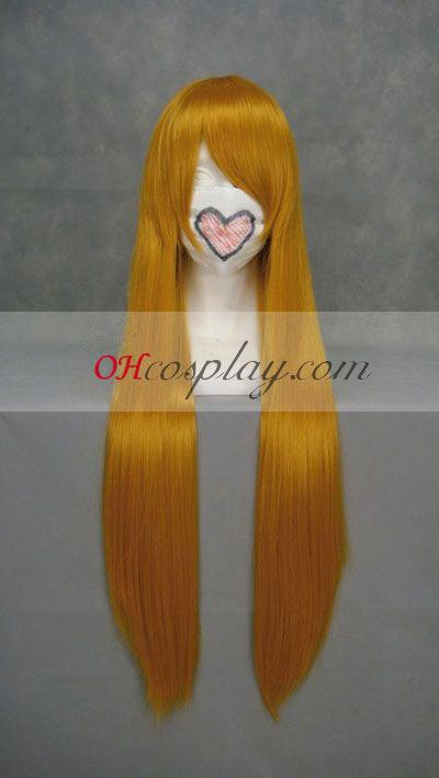 ЕВА загадъчният Рейвън оранжев Cosplay Wig