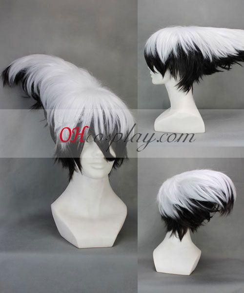Nurarihyon big supper Mago Nura Rikuo White&Black Cosplay Wig
