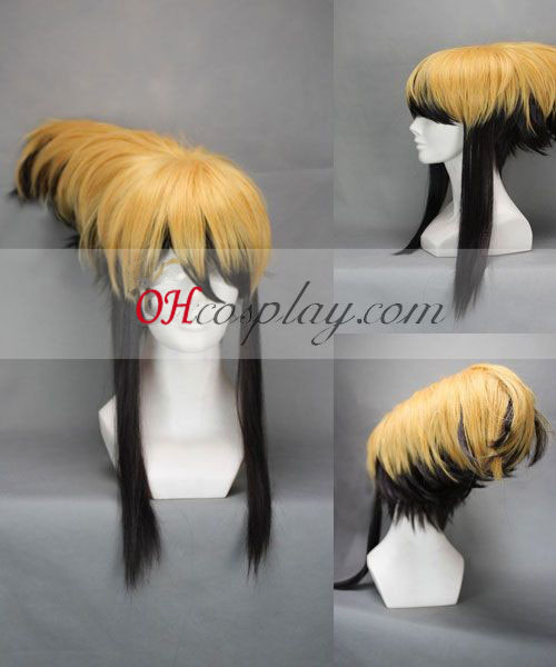 Nurarihyon big evening meal Mago Nura Rihyon Yellow&Black Cosplay Wig