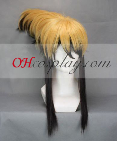 Nurarihyon big evening meal Mago Nura Rihyon Yellow&Black Cosplay Wig