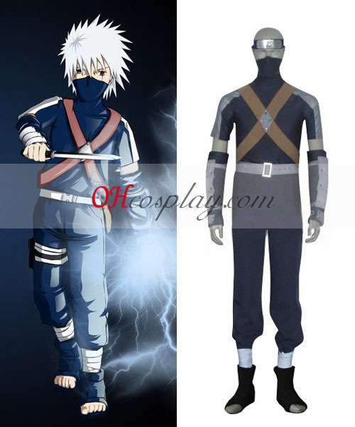 Naruto Kakashi Young Boy Cosplay Costume