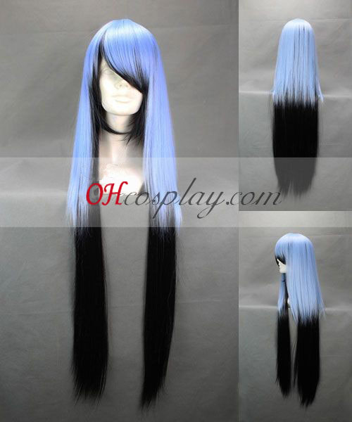 Nurarihyon č. Mago Yuki onna Blue&čierny Cosplay parochňu
