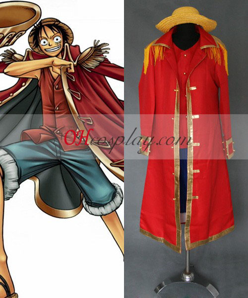 Jeden kus Luffy kapitán Cosplay Set