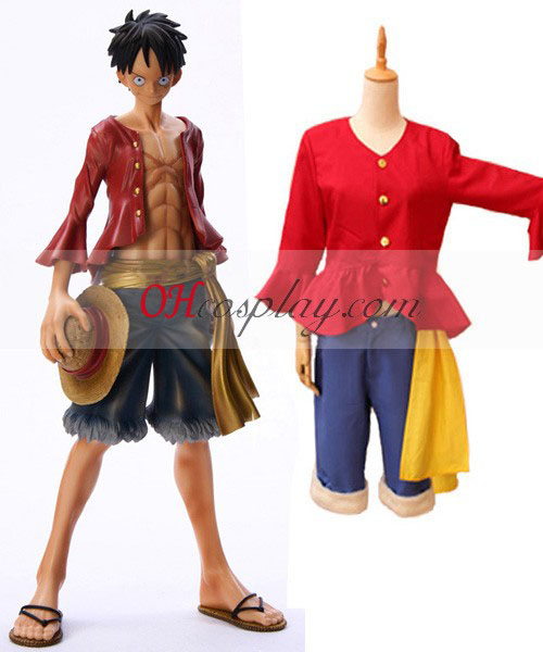 One Piece Monkey.D.Luffy After 2Y Cosplay Costume + Sandals