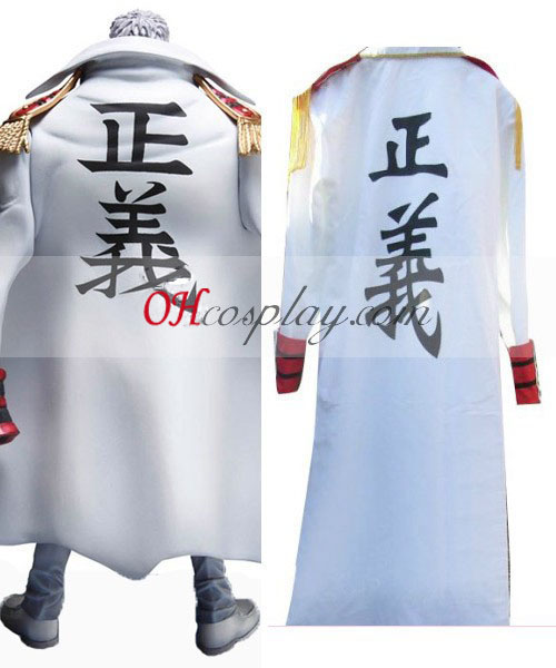 One Piece Monkey.D.Kapu (vice-admiraal) Navy Cloak Cosplay Kostuum