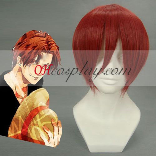 One Piece Shanks Red Cosplay Pruik