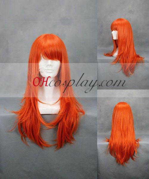 One Piece Nami orange Perruque Costume Carnaval Cosplay