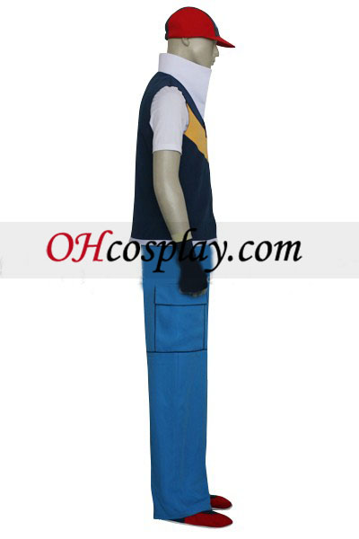 Pokemon Ash Ketchum Royal Blue And Yellow Cosplay Costume Australia
