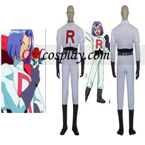 Pokemon Team Rocket James Cosplay Traje