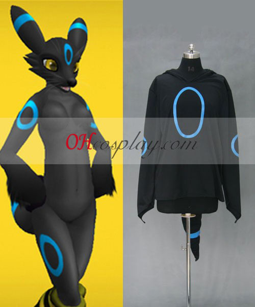 Pokemon Umbreon Hoodie Jacket Costumi Carnevale Cosplay