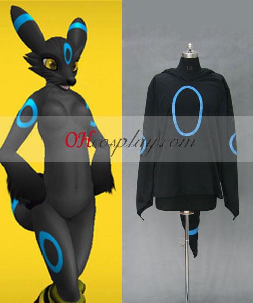 Pokemon Umbreon Hoodie Jacket Costume Carnaval Cosplay