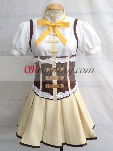 Влъхвите Puella Madoka Magica Tomoe Mami Cosplay костюм