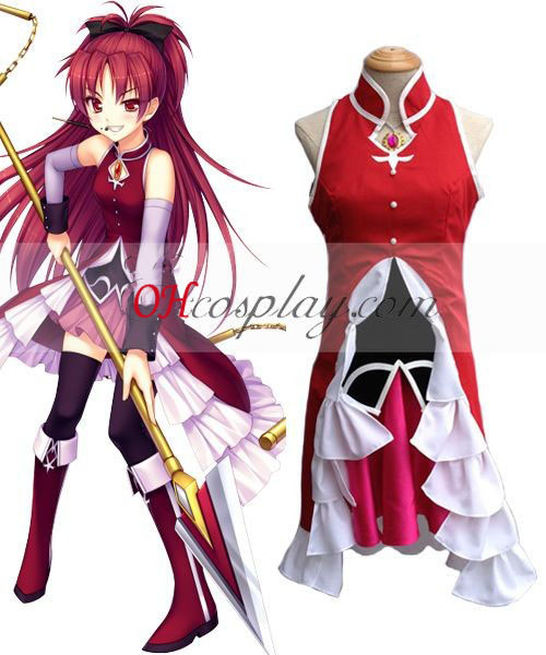 Puella Magi Madoka Magica Sakura Kyoko Cosplay Costume