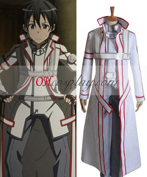 Sword Art Online Witte Kirito Cosplay Costume