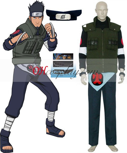 Naruto Sarutobi Asuma Deluxe Cosplay Kostym Set